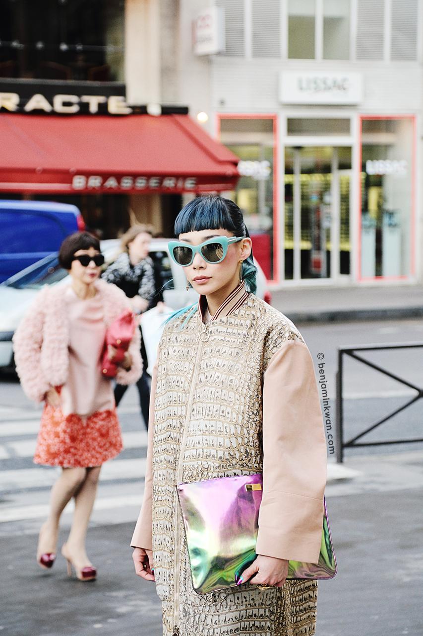 Mademoiselle Yulia at Stella McCartney FW 2014 Paris Snapped by Benjamin Kwan     Paris Fashion Week