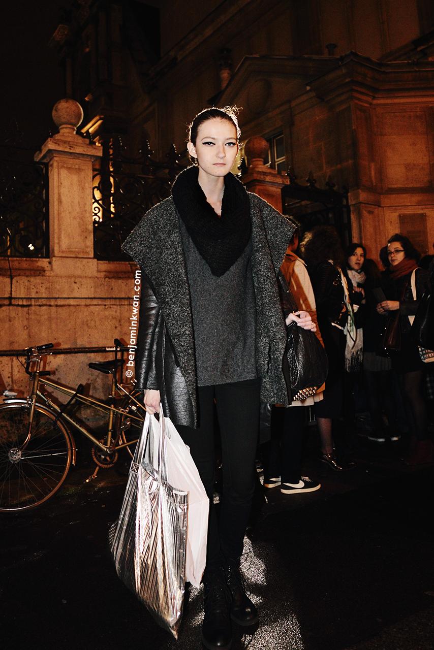 Kasia Jujeczka at Lanvin FW 2014 Paris Snapped by Benjamin Kwan Paris Fashion Week