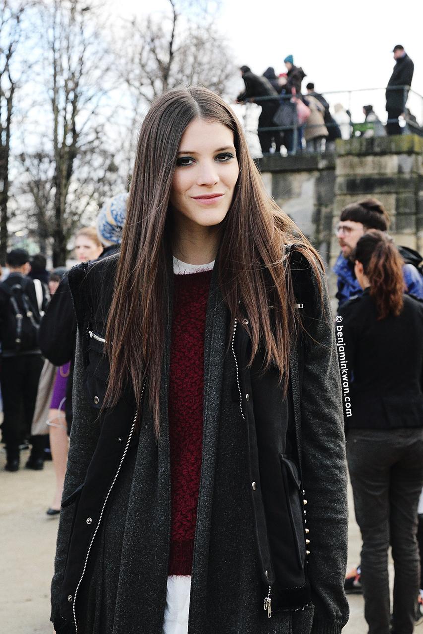 Carla Ciffoni at Elie Saab FW 2014 Paris Snapped by Benjamin Kwan     Paris Fashion Week
