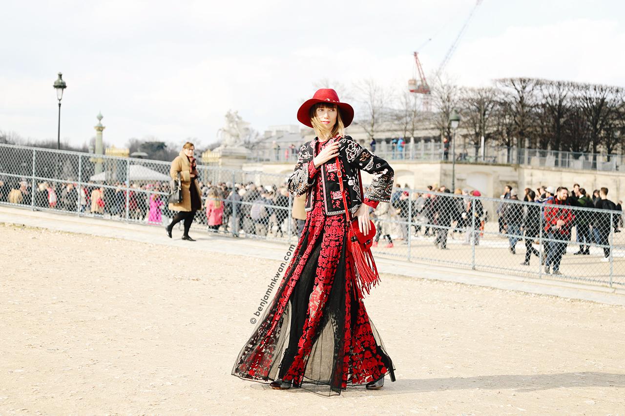 Anya Ziourova at Valentino FW 2014 Paris Snapped by Benjamin Kwan     Paris Fashion Week