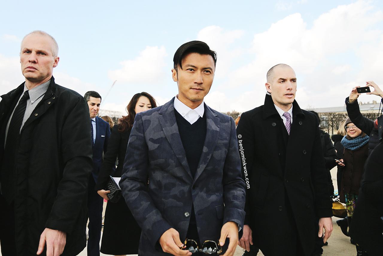Nicholas Tse 謝霆鋒 at Valentino FW 2014 Paris Snapped by Benjamin Kwan Paris Fashion Week