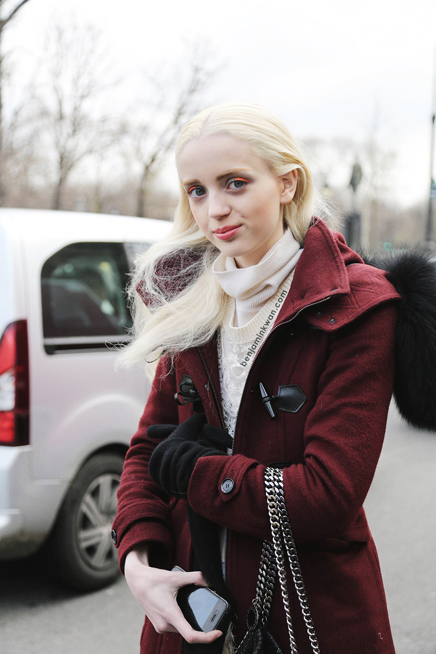 Esmerelda Seay Reynolds at Chanel FW 2014 Paris Snapped by Benjamin Kwan     Paris Fashion Week