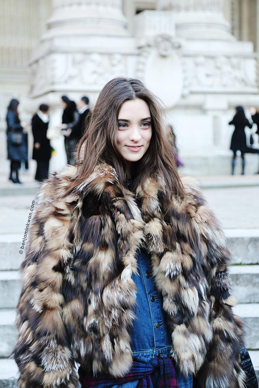 Carolina Thaler at Shiazty Chen FW 2014 Paris Snapped by Benjamin Kwan Paris Fashion Week