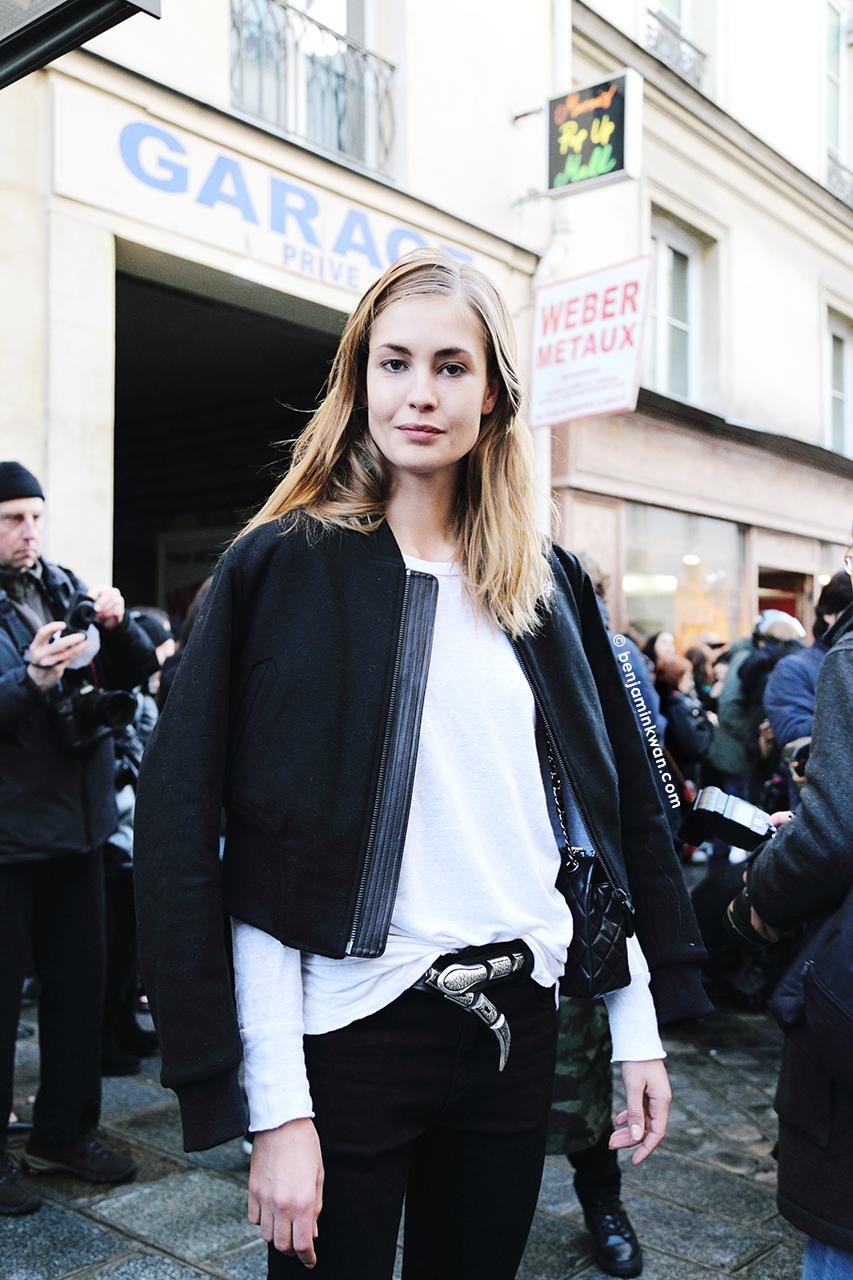 Nadja Bender at Babara Bui FW 2014 Paris Snapped by Benjamin Kwan     Paris Fashion Week