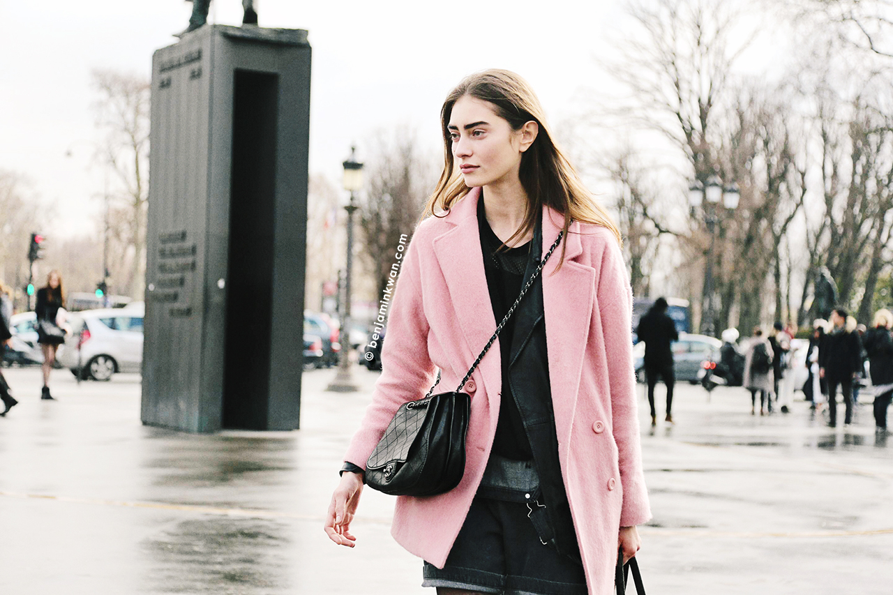 Marine Deleeuw at Chanel     FW 2014 Paris Snapped by Benjamin Kwan Paris Fashion Week