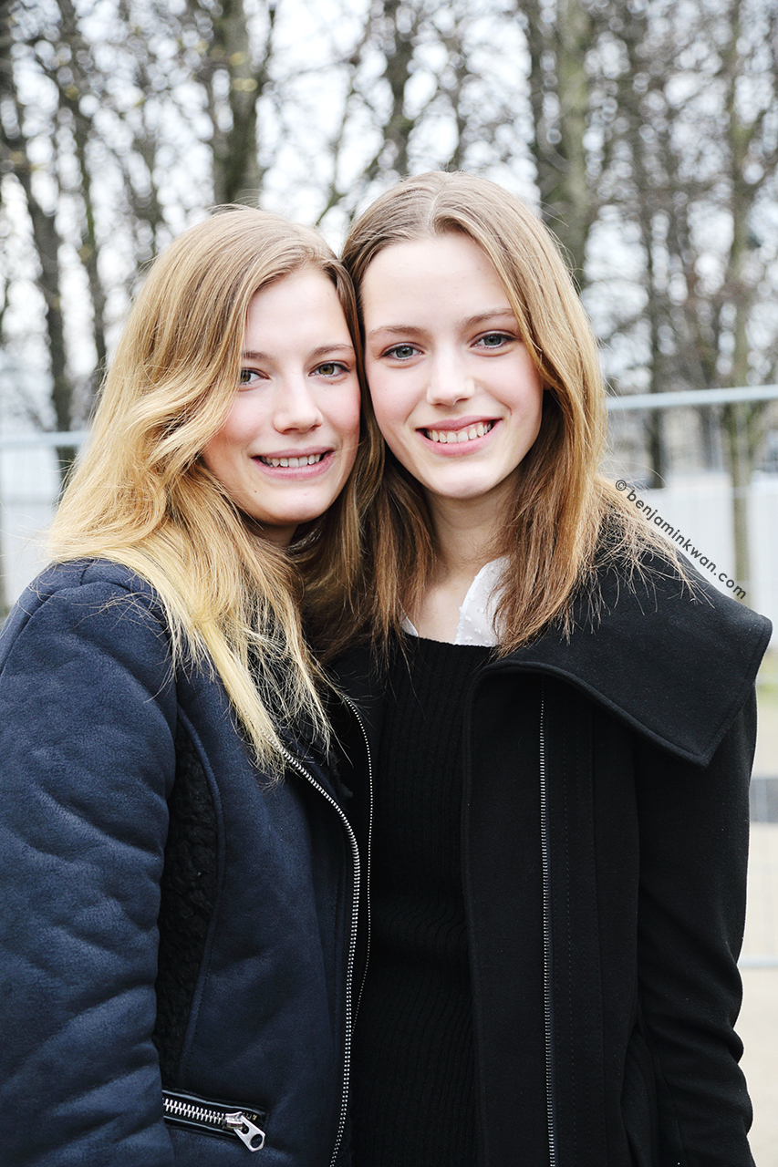 Toni and Esther Heesch at Viktor & Rolf FW 2014 Paris Snapped by Benjamin Kwan Paris Fashion Week
