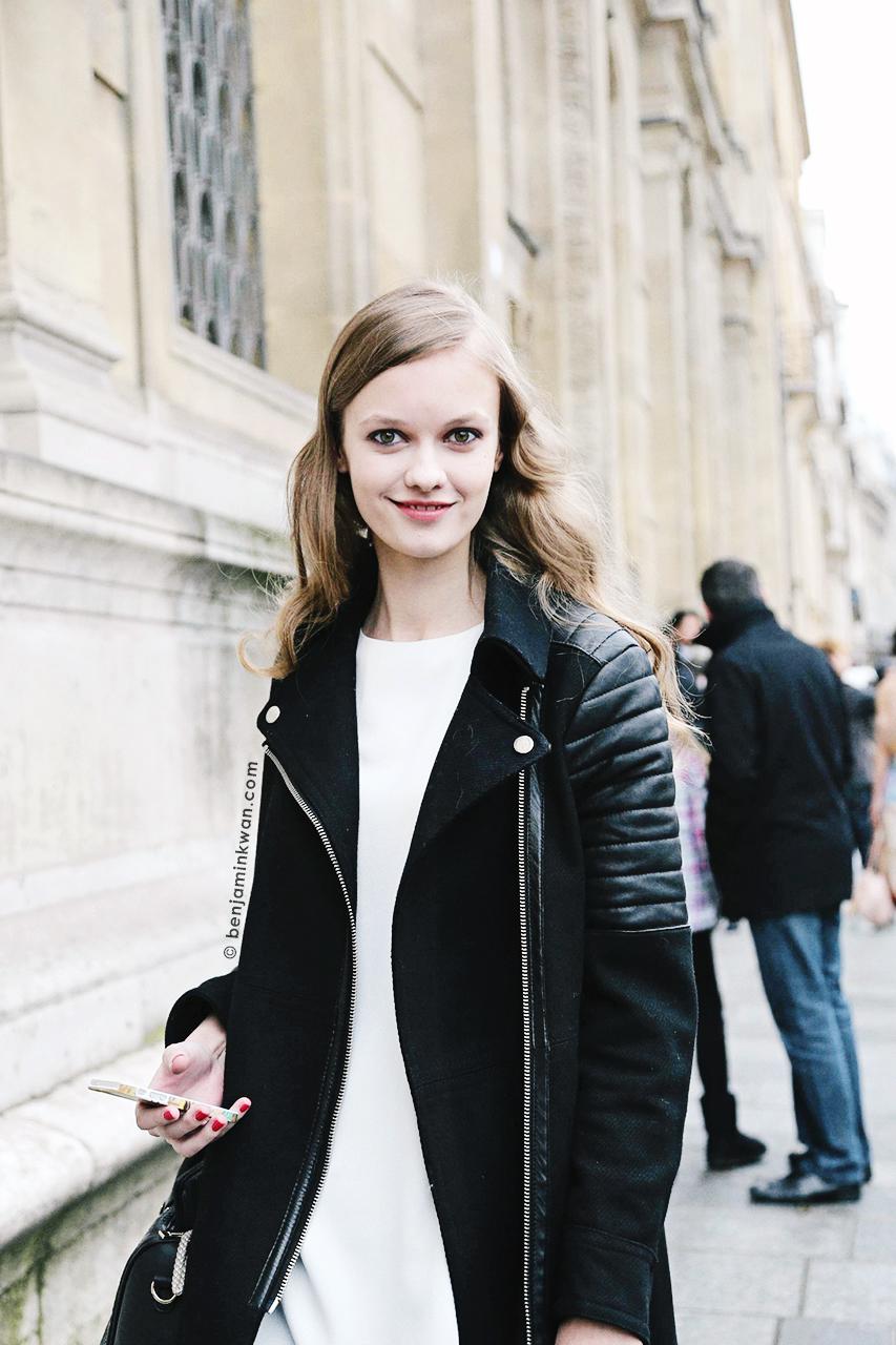 Alessiya Merzlova at Tsumori Chisato FW 2014 Paris Snapped by Benjamin Kwan Paris Fashion Week