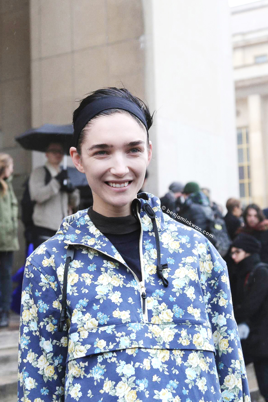 Janice Alida at Haider Ackermann     FW 2014 Paris Snapped by Benjamin Kwan Paris Fashion Week