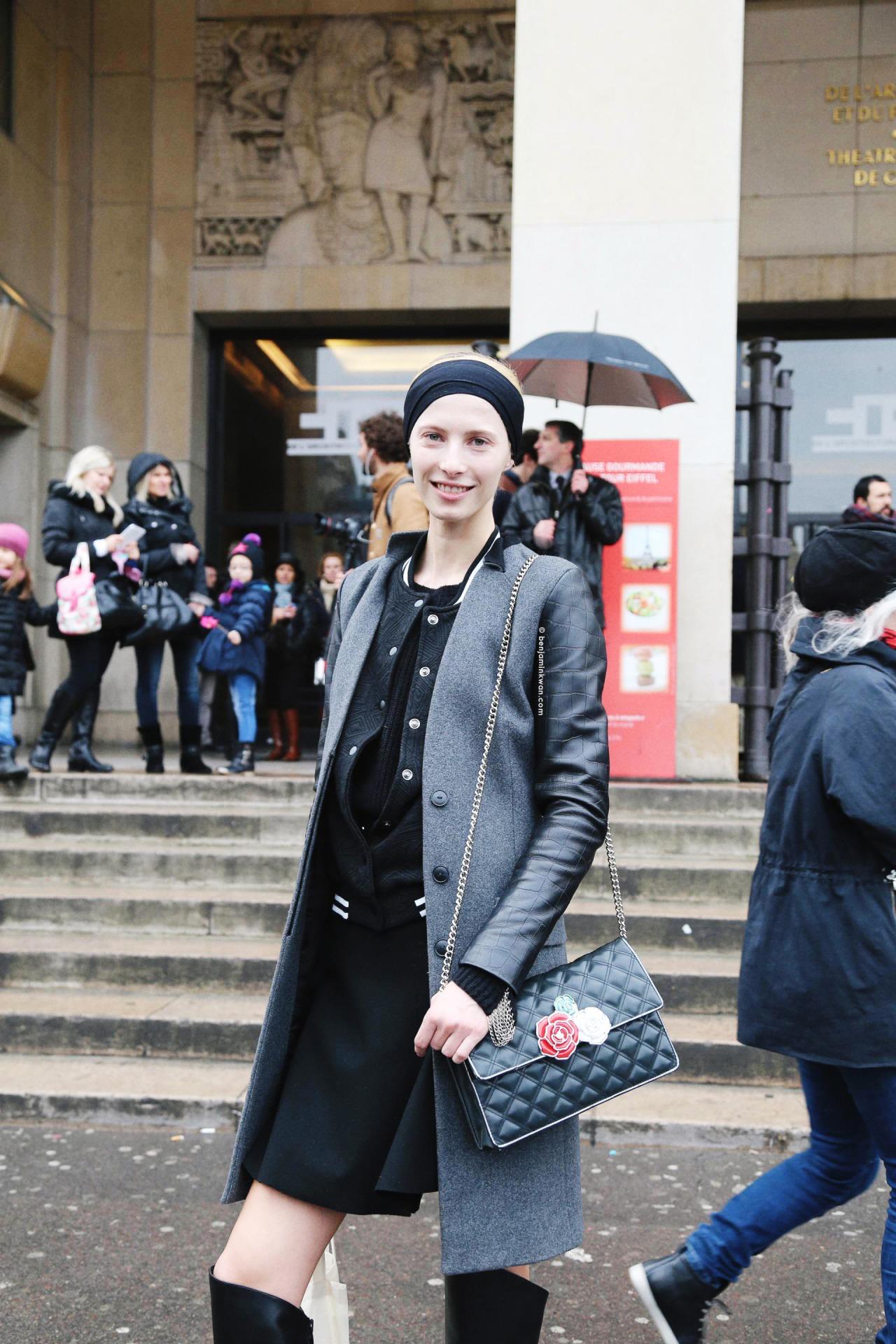 Martyna Budna at Haider Ackermann FW 2014 Paris Snapped by Benjamin Kwan Paris Fashion Week