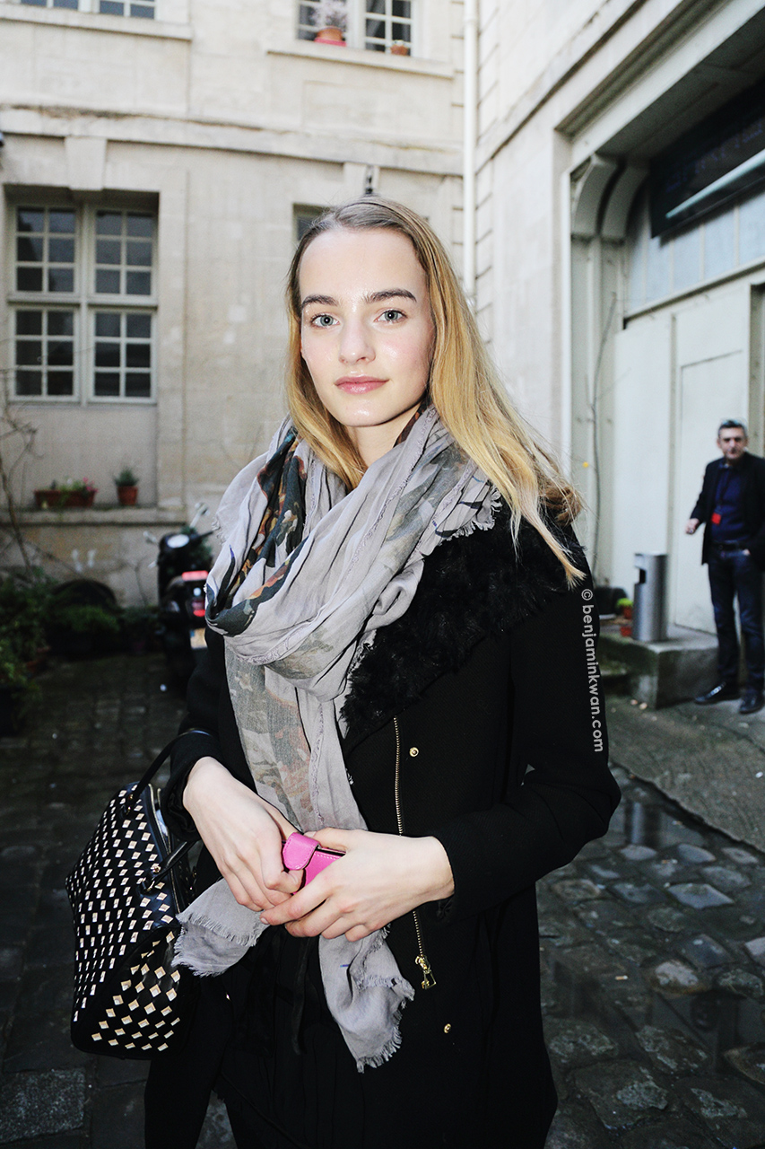 Maartje Verhoef at Barbara Bui     FW 2014 Paris Snapped by Benjamin Kwan     Paris Fashion Week
