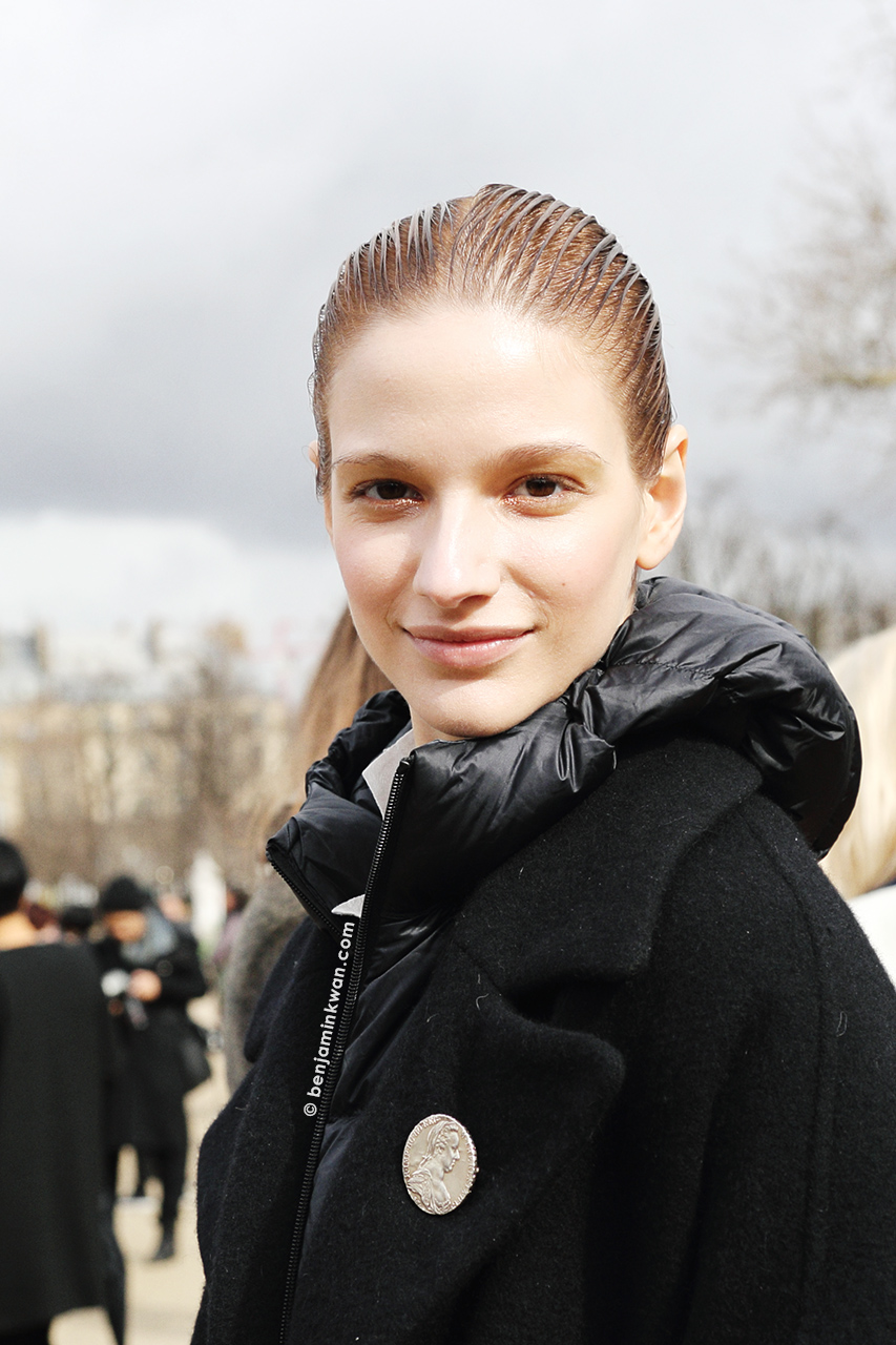 Roberta Cardenio at Issey Miyake FW 2014 Paris Snapped by Benjamin Kwan Paris Fashion Week