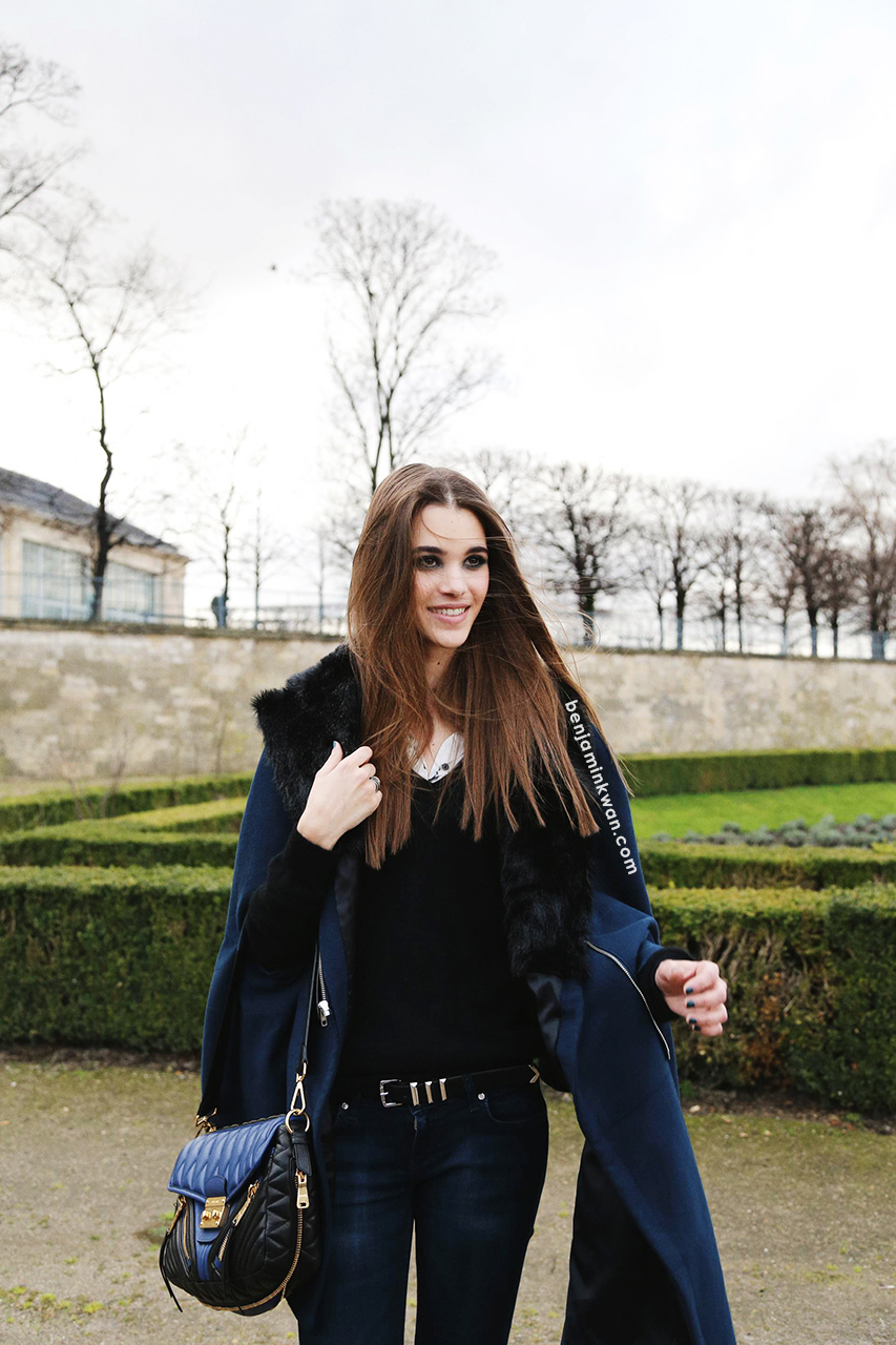 Pauline Hoarau at Elie Saab FW 2014 Paris Snapped by Benjamin Kwan Paris Fashion Week