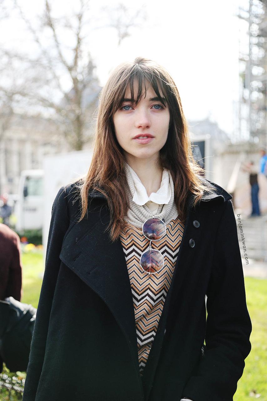 Grace Hartzel at Chanel FW 2014 Paris Snapped by Benjamin Kwan Paris Fashion Week