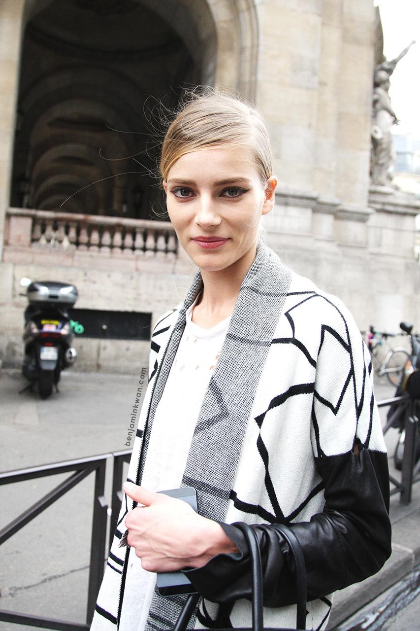 Ieva Laguna at Stella McCartney     SS 2014 Paris Snapped by Benjamin Kwan
