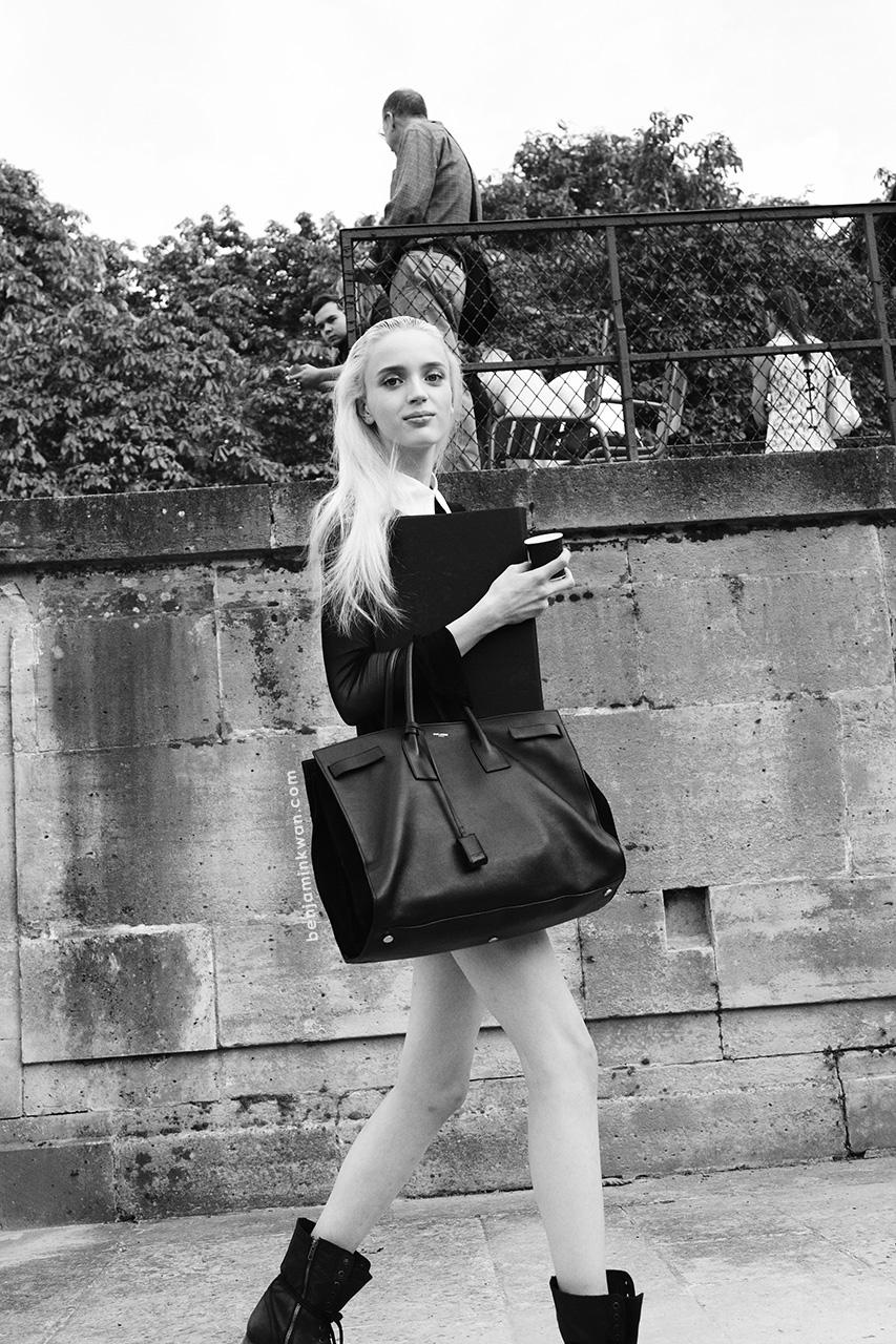 Esmeralda Seay-Reynolds at Nina Ricci SS 2014 Paris Snapped by Benjamin Kwan