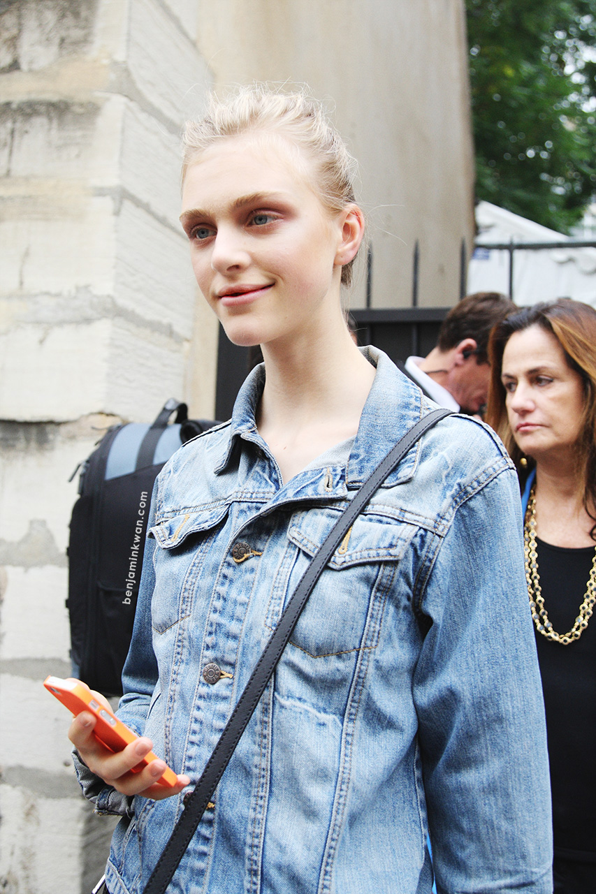 Hedvig Palm at Giambattista Valli SS 2014 Paris Snapped by Benjamin Kwan