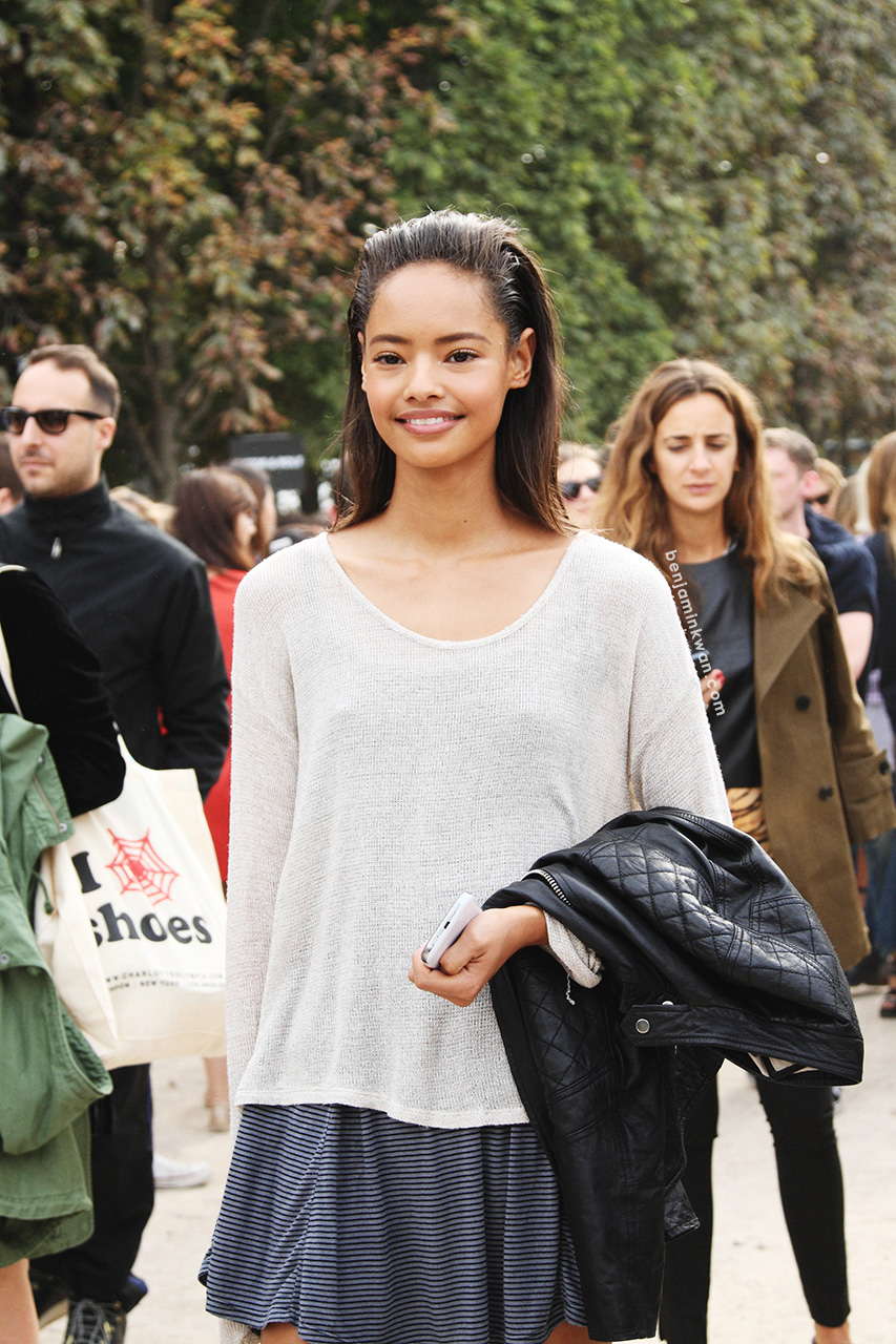 Malaika Firth at Viktor & Rolf     SS 2014 Paris Snapped by Benjamin Kwan