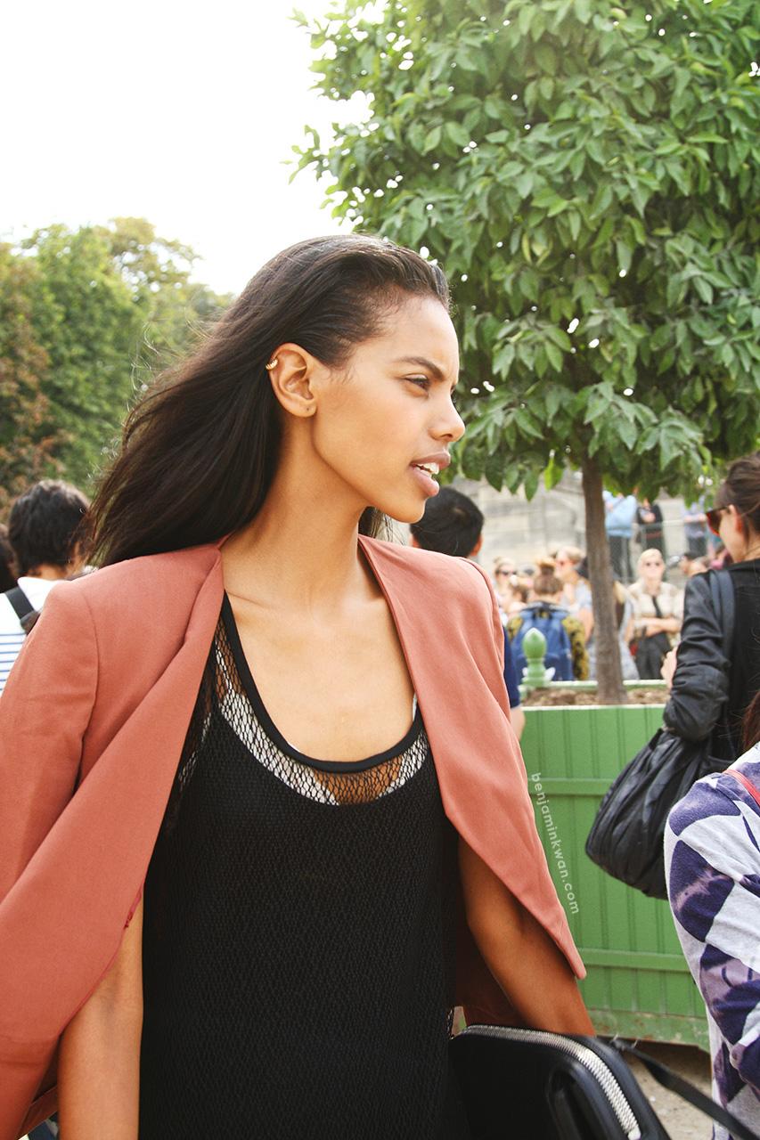 Grace Mahary at Viktor & Rolf SS 2014 Paris Snapped by Benjamin Kwan