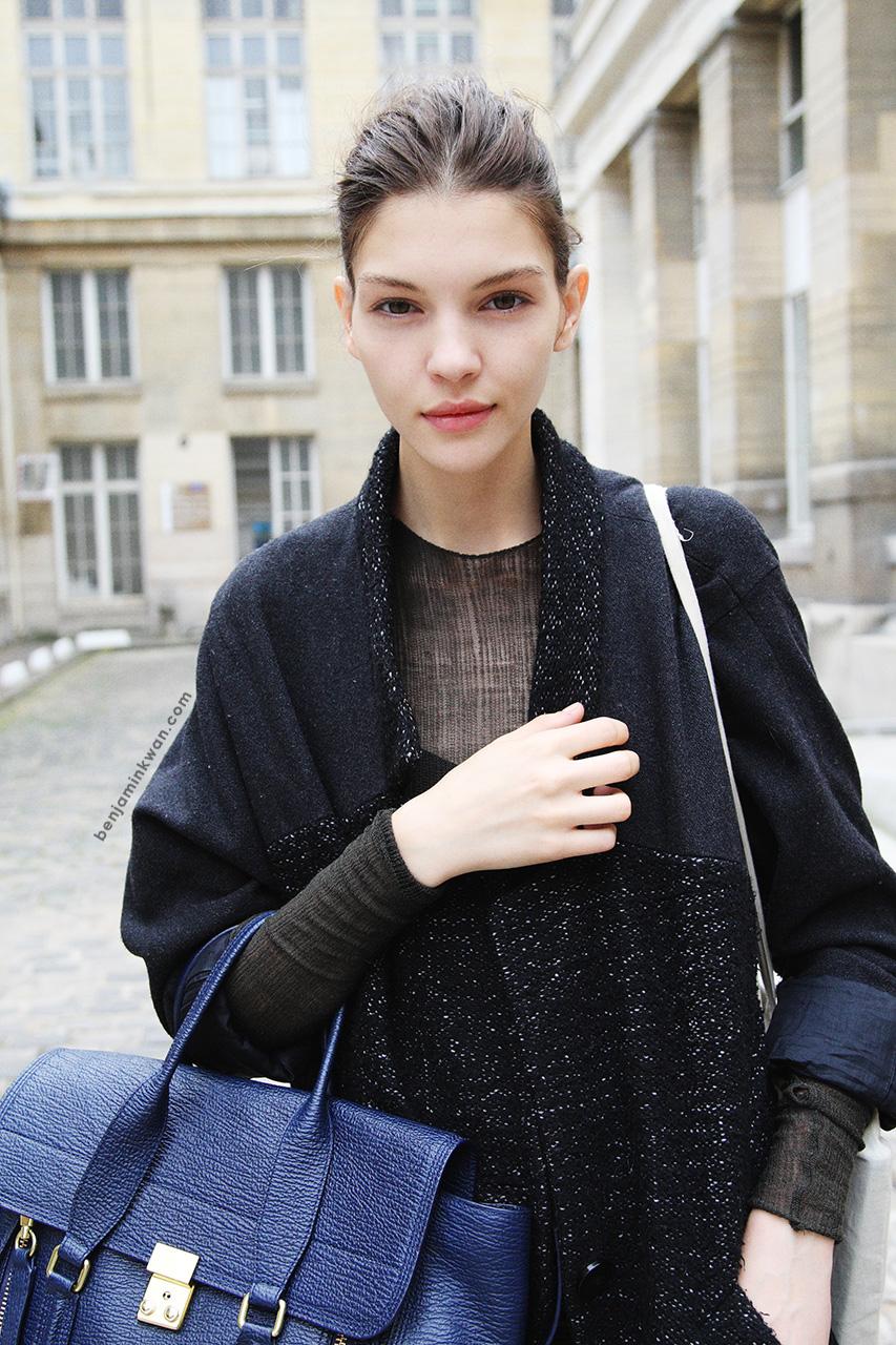 Kate Bogucharskaia at Giambattista Valli     SS 2014 Paris Snapped by Benjamin Kwan