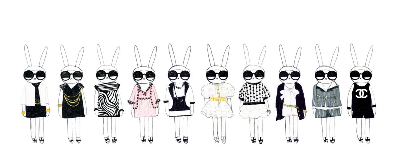 Fifi Lapin =   Fifi Wears Chanel   circa 2007   Frocks = Chanel
