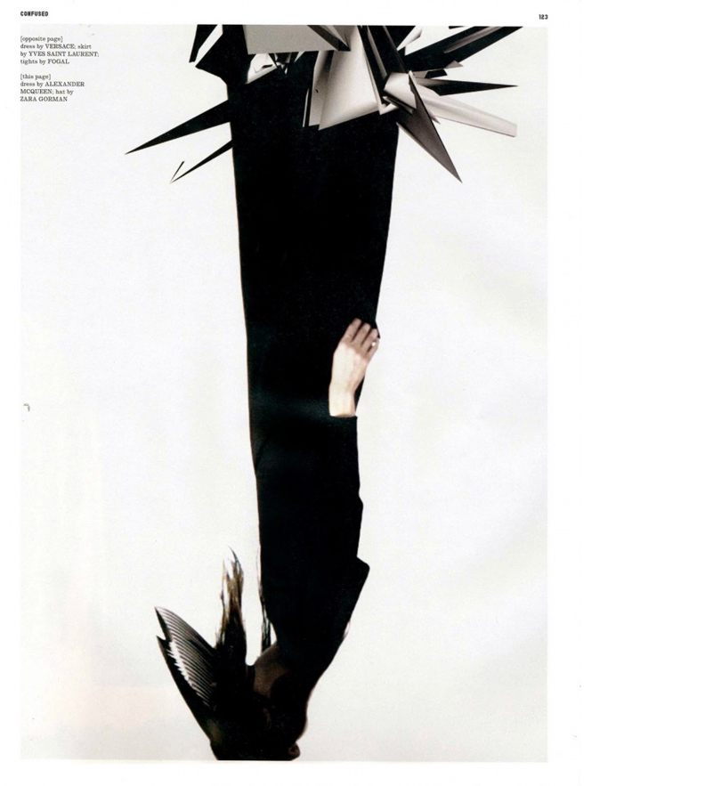 "Dafne Cejas + Katie Shillingford + Anthony Maule =   ""Devil's Daughter""   Dazed & Confused circa 2010   Frocks = Alexander McQueen + Zara Gorman"