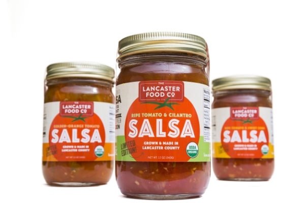 Certified Organic salsa made with love from local organic produce by the people at The Lancaster Food Company