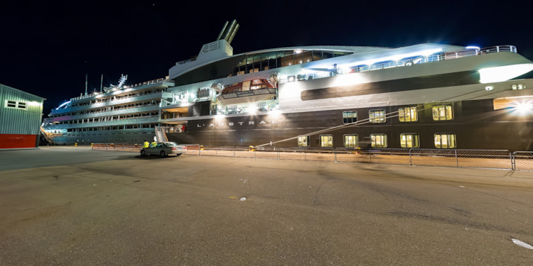 Wellington Docks at Night & Crane