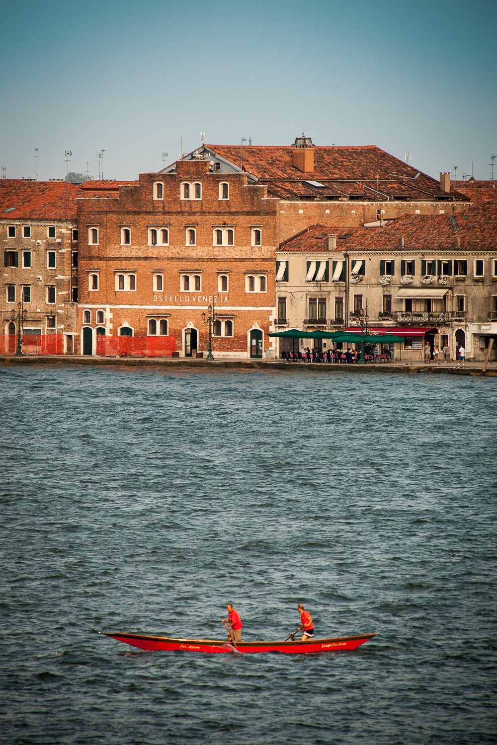 Leaving Venice - Red Boat