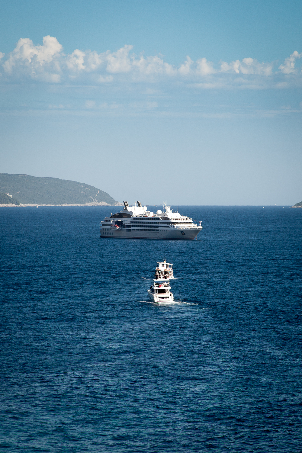 Le Lryial at anchor near Dubrovnik