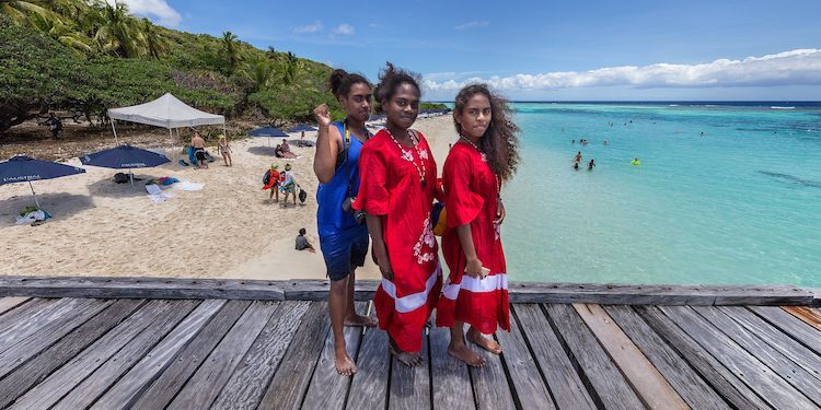 Tiga Island - Local village girls