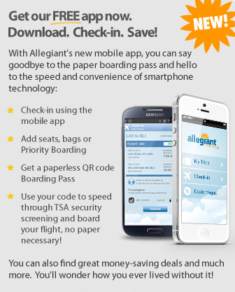 If you want to save money with Allegiant you'll have to check in at home or on a mobile app.