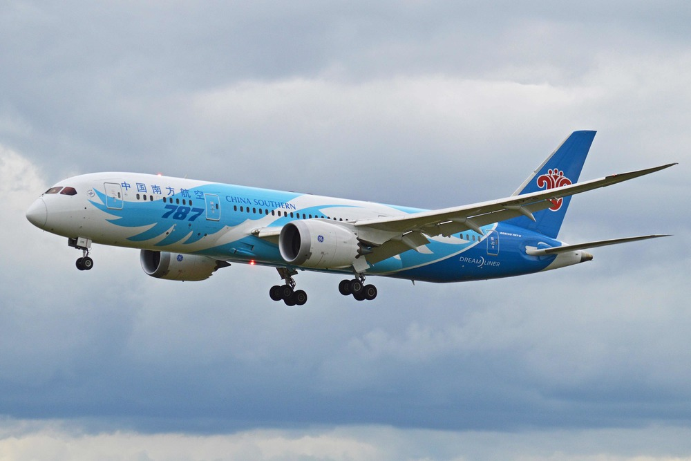 China Southern Airlines seeks authority to fly between Wuhan, China and San Francisco. Photo: Alan Wilson, viaWikimedia Commons.