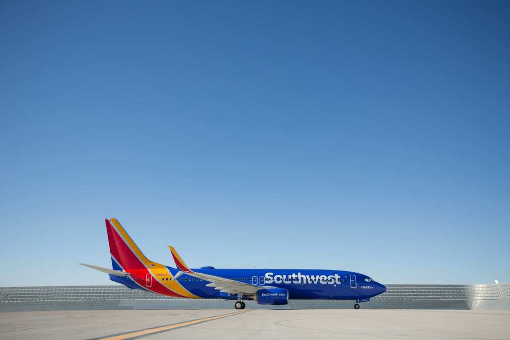Southwest Airlines has a new look and a new strategy. Photo:   Stephen M. Keller, Southwest Airlines.
