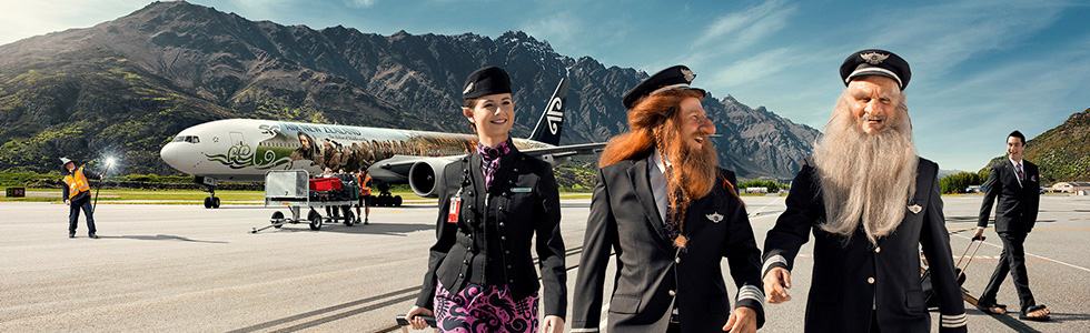 Air New Zealand once again has a Hobbit-themed safety video. Photo: Air New Zealand.
