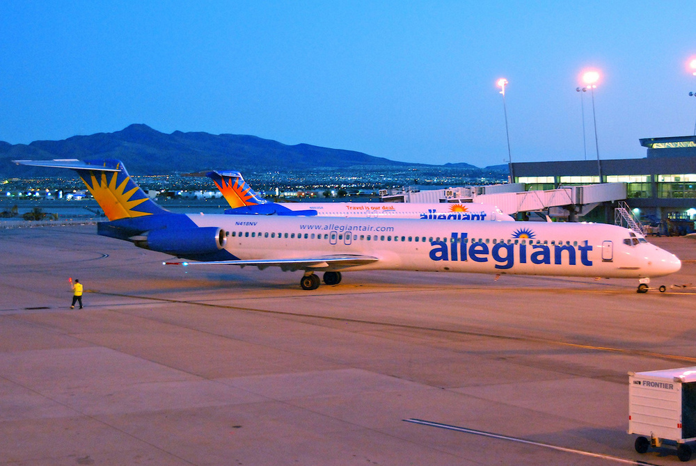 Allegiant Air charges customers $5 if they check in at most airports. But why? Photo: Aero Icarus/Flicr, via creative commons.