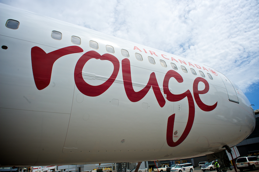 Air Canada Rouge has been fined by the U.S. government for a tarmac delay. Photo: Air Canada.