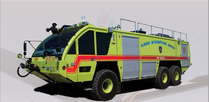 Did you know the Panther 6 x 6 fire fighting vehicle costs almost $1 million per model? Photo: Rosenbauer America.