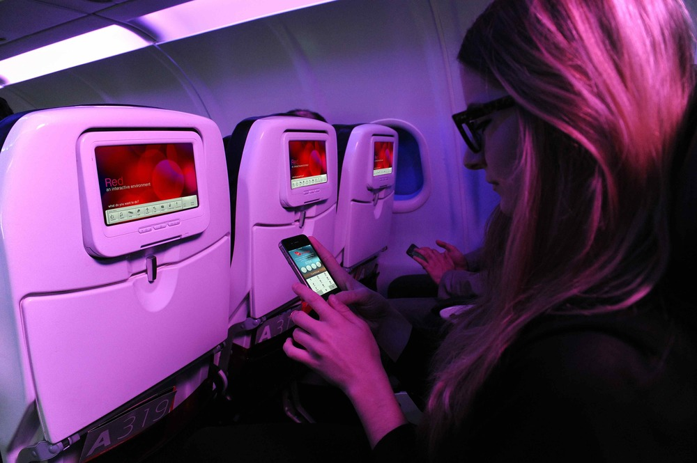 Touch screens are coming to Virgin America. Photo: Virgin America.