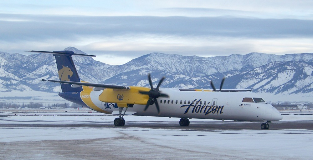 Fly Alaska Airlines or Horizon Airlines to a ski destinations this winter and get a free flight. Photo: Alaska Airlines.