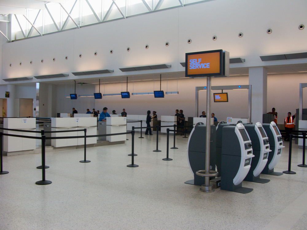 Is this era of airport kiosks coming to an end? Photo: Morgan Johnston/JetBlue, via Flickr.