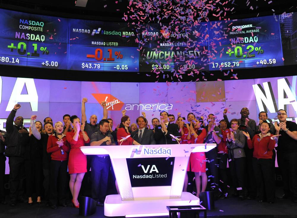 Virgin America, which celebrated its IPO last week, just clocked its one millionth flight hour. Photo: Virgin America.