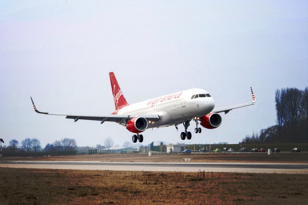 Virgin America has finished installing a new internet system on board its aircraft. Photo: Virgin America.