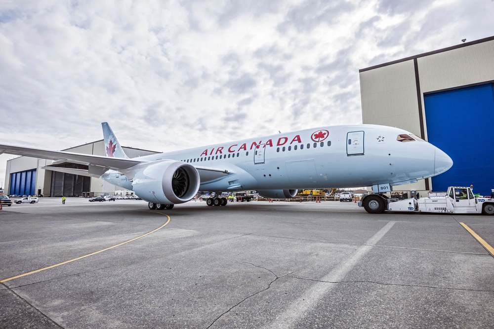 Air Canada, which took delivery of its first 787 aircraft last year, wants to be known again for innovation. Photo: Air Canada.
