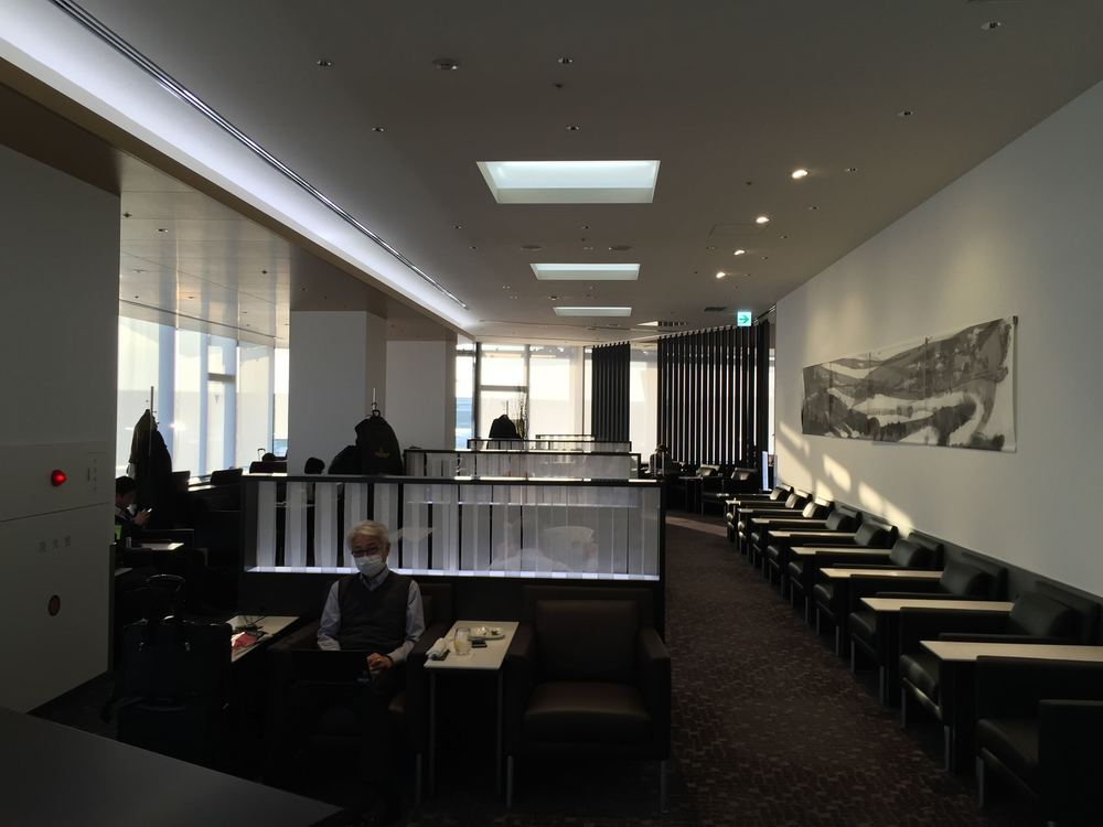 Next is a visit to the first class lounge. As others have said, ANA's lounge in Narita is not particularly memorable. But there are some light snacks and free booze.