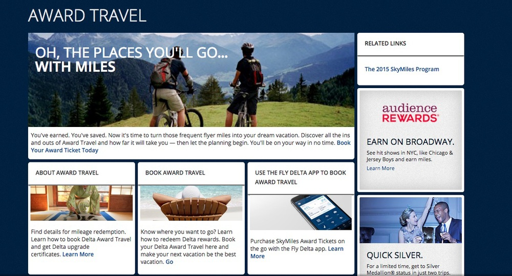 Will SkyTeam award seats be easier to find this year? Screenshot: Delta.