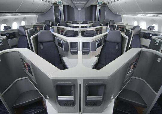 The fancy business class seats on American's new Boeing 787. Photo: American Airlines