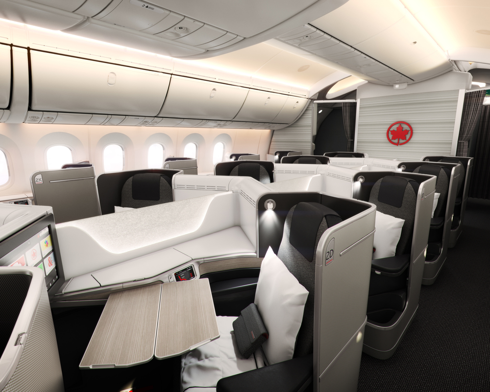 Air Canada will start flying more widebodies - with flat-bed seats in business class - between Toronto and major cities in the west, including San Francisco, Vancouver and Los Angeles. Photo: Air Canada.
