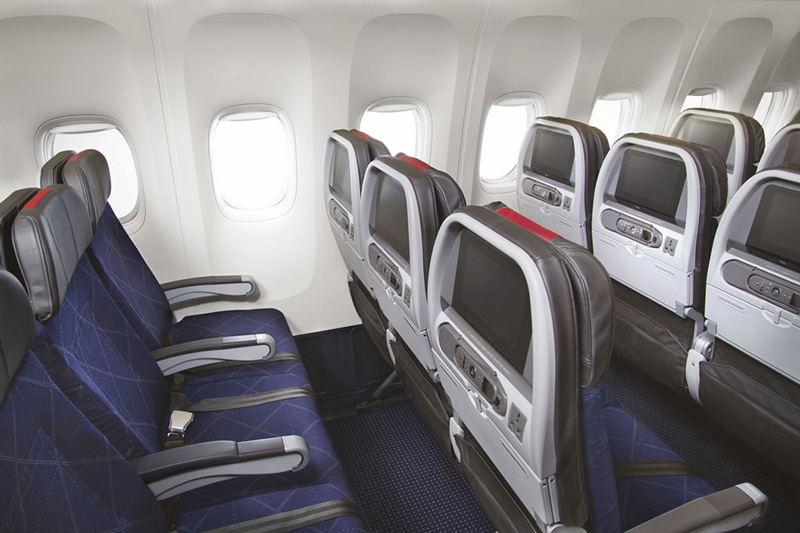 This is the new economy class on American's 777-200s. Photo: American.