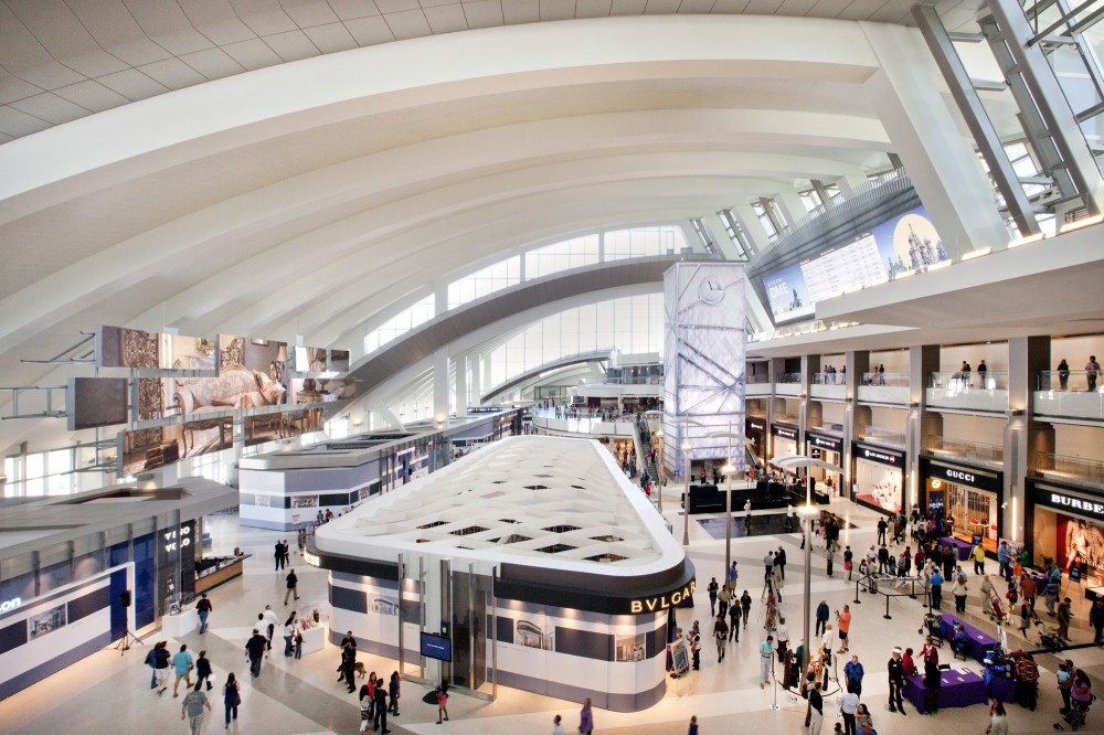 The new international terminal at LAX has won LEED Green certification. Photos: Fentress.