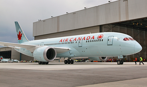 Air Canada has a large international operation for an airline of its size. Photo: Air Canada.